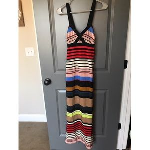 Jessica Simpson stripe maxi dress